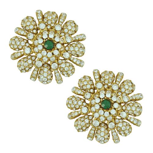 Ciner Monroe Crystal Emerald Earrings
