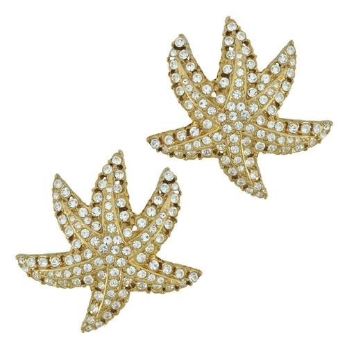 Ciner Crystal Star Earrings