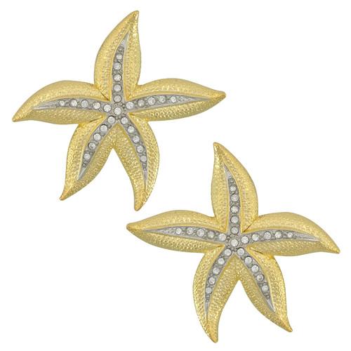 Kenneth Jay Lane Large Starfish Earrings
