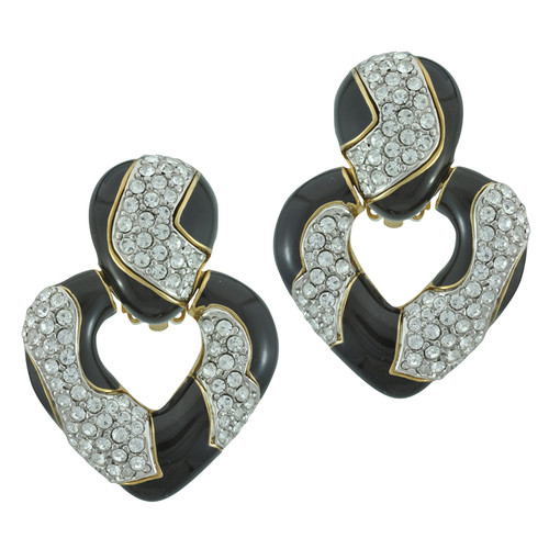 Ciner Jayne Crystal Deco Drop Earrings