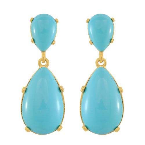 Kenneth Jay Lane Turquoise Drop Earrings