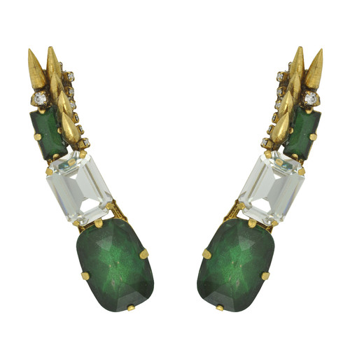 Erickson Beamon Emerald Crystal Spike Ear Cuff