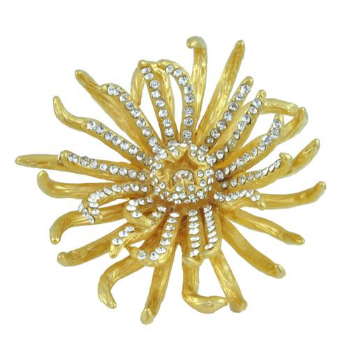 Noir Chrysanthemum Flower Ring