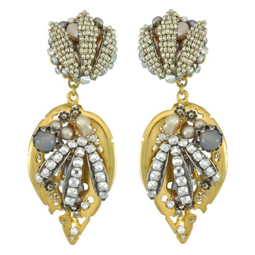 Miriam Haskell Leaf Drop Earrings