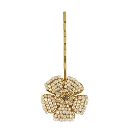Miriam Haskell Floral Pearl Hair Pin