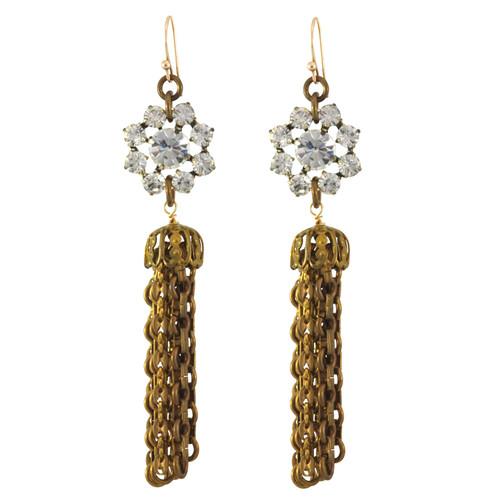 Lulu Frost Flower Tassel Earrings
