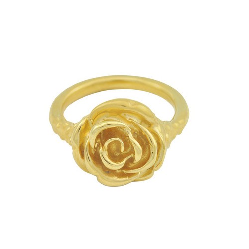 LeiVanKash Gold Rose Midi Ring