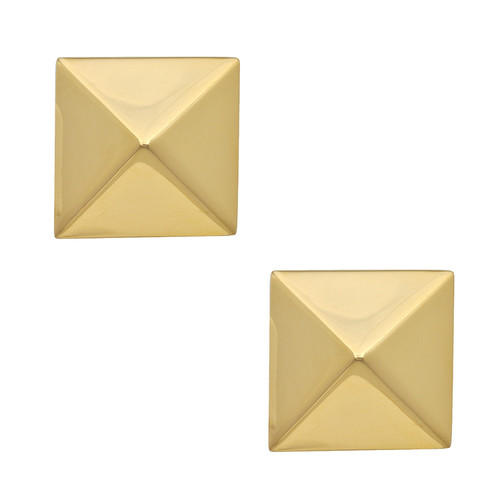Kenneth Jay Lane Large Gold Pyramid Earrings