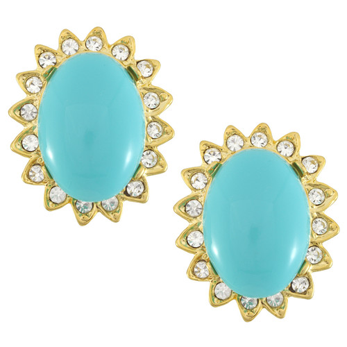 Kenneth Jay Lane Large Cabochon Earrings