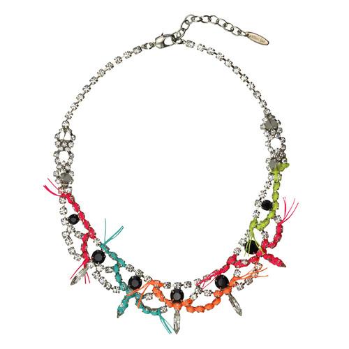 Joomi Lim Black Crystal Neon Necklace