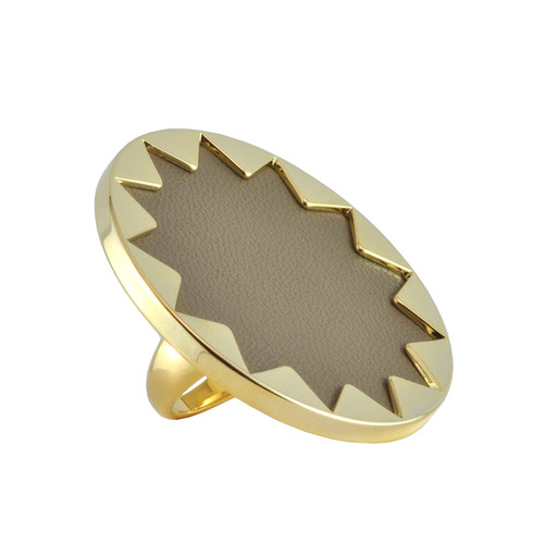 House of Harlow 1960 Khaki Sunburst Ring