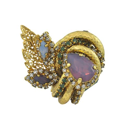 Erickson Beamon Garden Party Crystal Ring