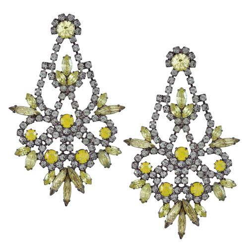 Elizabeth Cole Light Yellow Indira Earrings