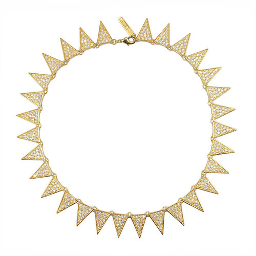 Eddie Borgo Flat Pave Triangle Collar Choker Necklace