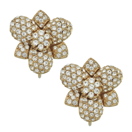 Ciner Mini Crystal Flower Earrings