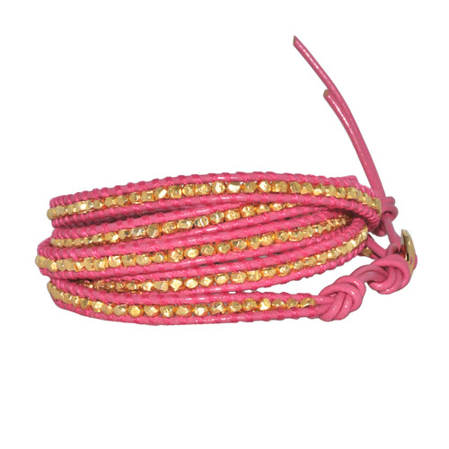 Chan Luu Pink Gold Vermeil Nugget Wrap