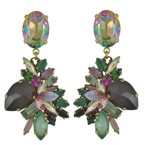 Erickson Beamon Cosmic Code Crystal Drop Earrings