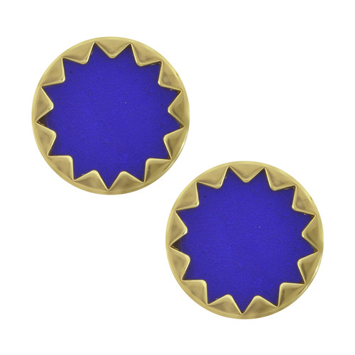 House of Harlow 1960 Cobalt Starburst Button Earrings