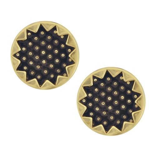 House of Harlow 1960 Black Starburst Button Earrings