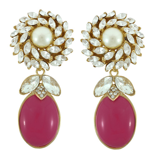 Ciner for Sophie Berry Flower Top Earrings