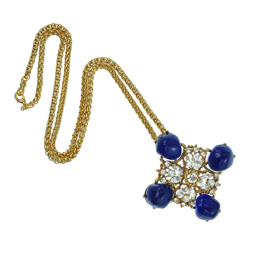 Kenneth Jay Lane Antique Lapis Necklace