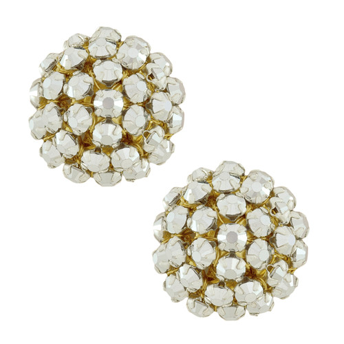Miriam Haskell Dome Cluster Earrings
