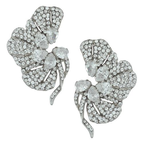 Siman Tu Crystal Floret Earrings