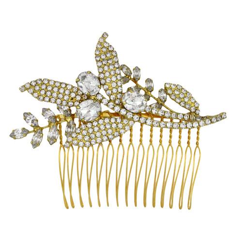 Jennifer Behr Isa Crystal Gold Comb
