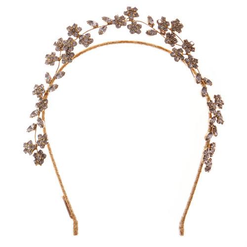 Jennifer Behr Violet Gold Crystal Headband