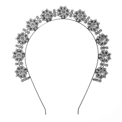 Jennifer Behr Bellosa Gunmetal Crystal Headband