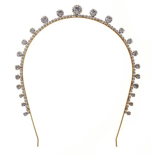 Jennifer Behr Dot Gold Crystal Tiara Headband