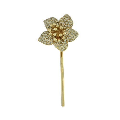 Ciner Pave Crystal Flower Bobby Pin