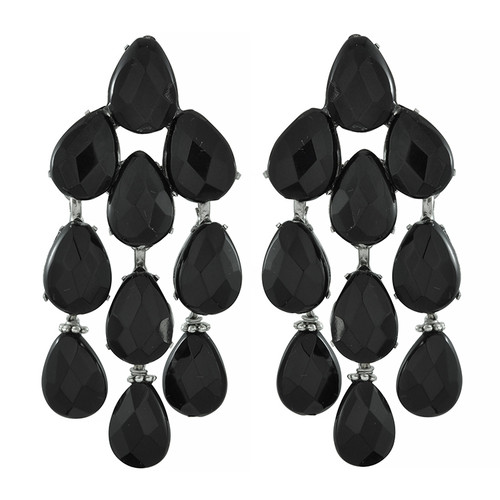 Siman Tu Black Onyx Drop Earrings