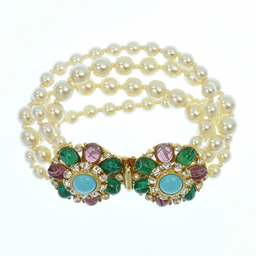 Ben-Amun Four Strand Pearl Bracelet