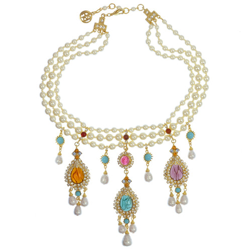 Ben-Amun Pearl Multi Mogul Necklace