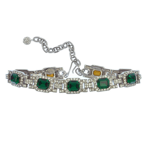 Ciner For Sophie Emerald Crystal Choker