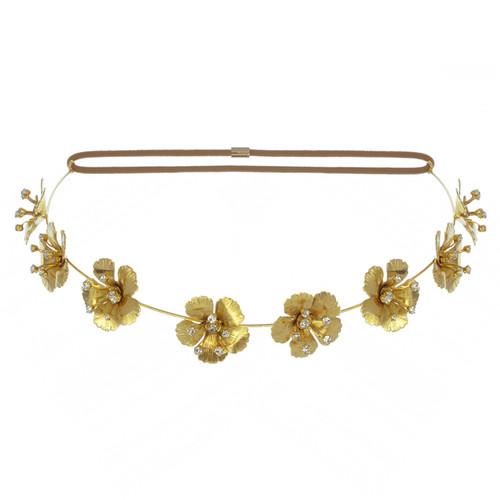 Jennifer Behr Gold Annabelle Bandeaux Headwrap