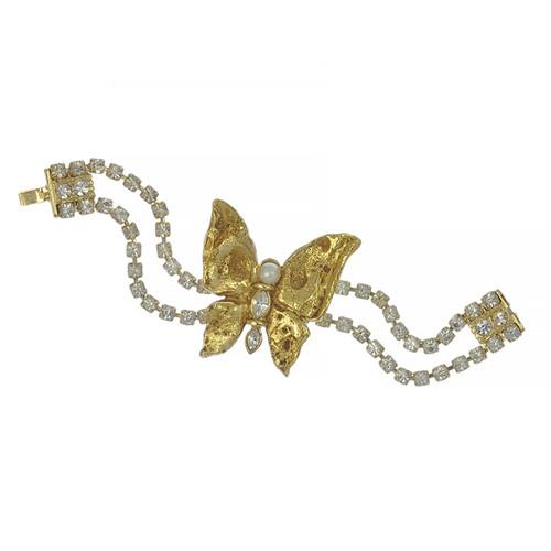 Vintage Yves Saint Laurent YSL Butterfly Bracelet
