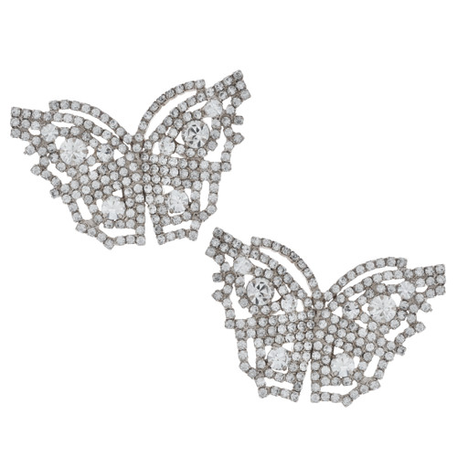 Jennifer Behr Large Crystal Butterfly Earrings