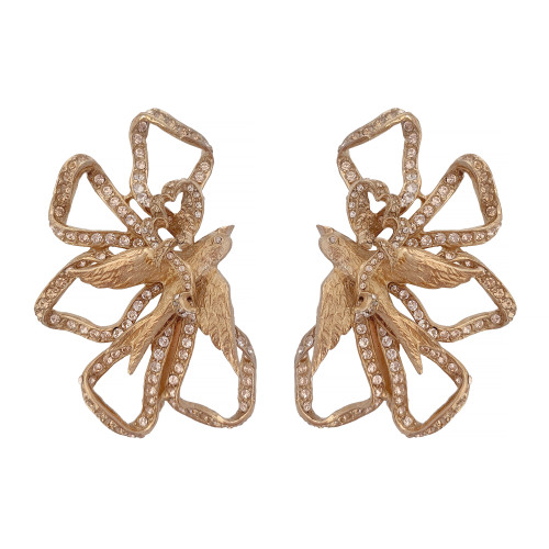 Ciner Lace Bow Earrings