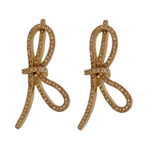 Ciner Lacey Bow Earrings