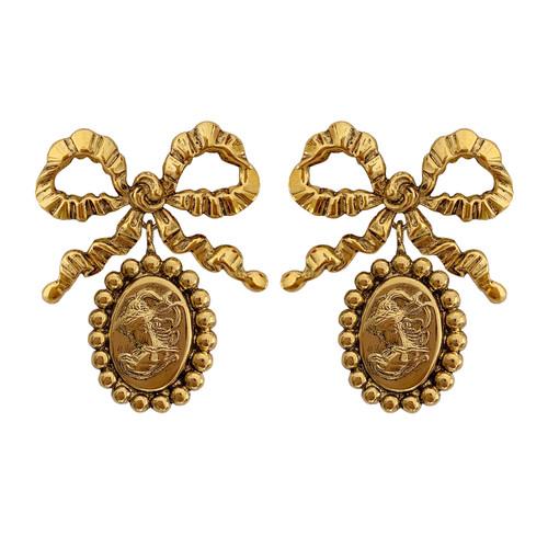 Jennifer Behr Claudia Bow Drop Earrings