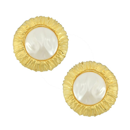 Kenneth Jay Lane Barbara Pearl Earrings