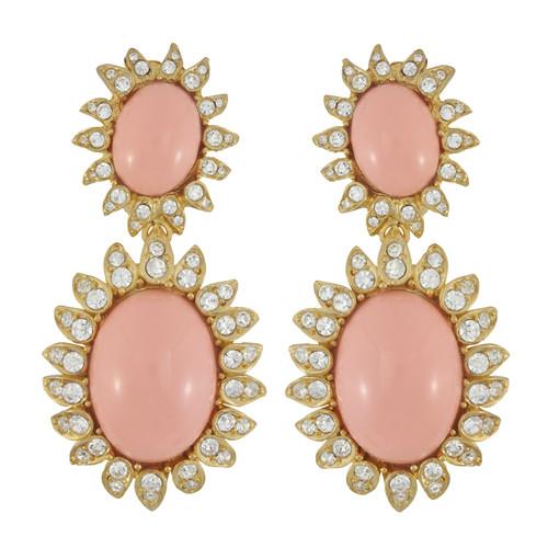 Ciner Blush Cabochon Earrings