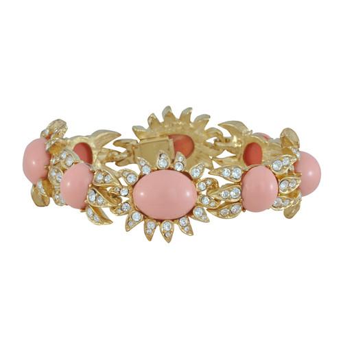 Ciner Blush Cabochon Bracelet