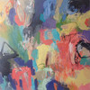 Kate Barry Artist   First Spring    104 cm x  104 cm   Acrylic on canvas