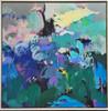 Kate Barry Artist   The Jam    85 cm x 85 cm   Acrylic on canvas