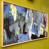 Kate Barry Artist   Through the Trees    50 cm x 85 cm   Acrylic on canvas