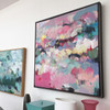 Spring glass in situ | Acrylic on canvas by Kate Barry