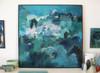 Float  | 125 cm x 125 cm | Framed | Acrylic and water based oil on linen